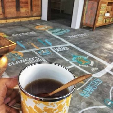 relax while drinking coffee-min
